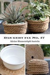 This is fix no. 47 – Flower pots made of jute cord