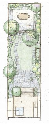 this is the same shape as our plot so has given me some good ideas path is the same too landscape design pinterest paths shapes and site design - Garden Design Long Narrow Plot