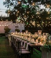 Wedding Centerpiece – Long Tables
