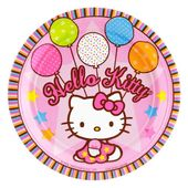 """Amscan Hello Kitty Balloon Dreams 7"""" Paper Plates, 8-Count $3.45 (42% OFF)"""