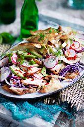 Ensalada Bodylove con tiras de pollo   – Low Carb-Rezepte