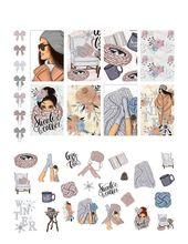 Printable Mambi Happy Planner Classic NEW Stickers Weekly Sweater Weather Winter Merino Wool Blanket Art Kit Based Design Cricut Cut Files