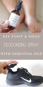 DIY Foot & Shoe Deodorizer Spray   – doTerra Essential Oils