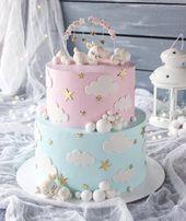 Baby Shower Cake ⬅️ Follow  Cake 💙💖 from @rizashka.cake . . #Weddingday #Weddingphoto #...