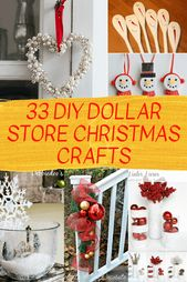 33 DIY Dollar Store Weihnachtshandwerk