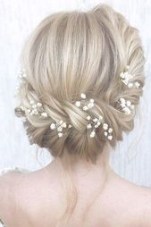42 Gorgeous Wedding Hairstyles---country elegant updo hairstyle, unique wedding hairstyle inspiration for long wedding hair