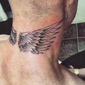 Tatouage de cou pour homme et femme   – Neck tattoo