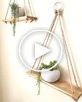吊り棚 プランター 手作り 壁の装飾 素朴な棚 ウォールプランター