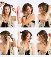 Frisuren mit kurzen Haaren: Wellen Sie Ihre Haare mit einem Bügeleisen
