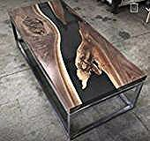 """Details for Epoxy Resin Black Table Top """"6×3"""" for dining table """"35MM"""" width (…   – Epoxy Crafts"""