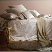 Janine Pillowcase individually 40×40 cm narrow stripes Striped bed linen modern classic perlblau