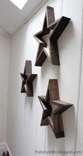 DIY Holzsterne