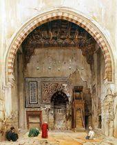 Charles Pierron  Innenraum einer Moschee in Kairo Nageldesign Französisch