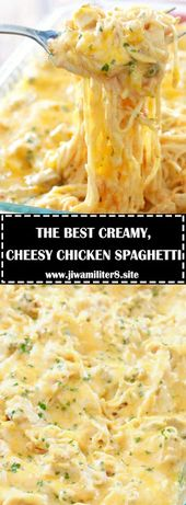 DIE BESTE CREME, CHEESY CHICKEN SPAGHETTI – #recipes