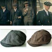(Sponsored)eBay – Mens Newsboy Beret Cabbie Hats Peaky Blinders Herringbone Gats…