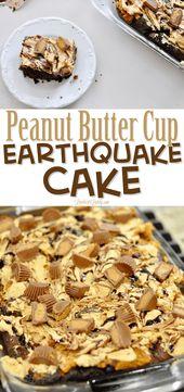 Peanut Butter Cup Earthquake Cake