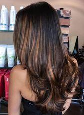 Black Hair With Caramel Brown Balayage – Hair