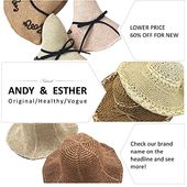 Andyesther hand-weaved foldable beach hat upf50 sun hat man women straw hat bucket hat – Products