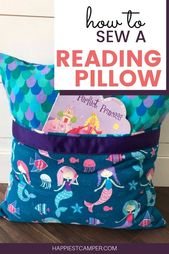 How to sew a reading pillow. I love this simple sewing project! I loved my kids …   – Fun things to make