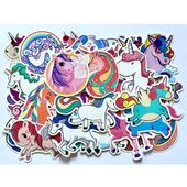 50 Pcs Kawaii Unicorn Stickers for Laptop Skateboard Guitar Suitcase Car Moto Doodle Decals Cute Funny Waterproof Sticker