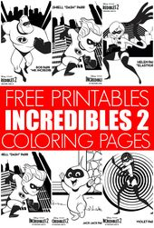 Incredibles 2 Coloring Pages The Incredibles Coloring Pages Coupon Book