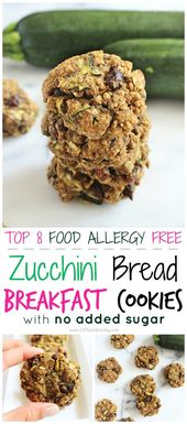 Try these Gluten Free Zucchini Bread Breakfast Cookies to kick start your day wi…