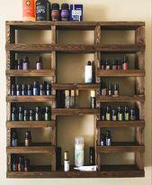 Essential Oil Shelf, Essential oil storage, nail polish rack, wood shelf, hanging shelf, essential oil holder, farmhouse decor, gift