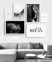 Fashion Gallery wall, gallery wall set, Fashion wall art, set of 6 prints, Fashion set print, Printable Gallery Wall set, Scandinavian art
