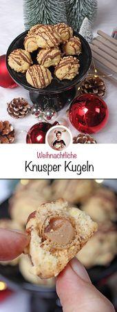 Wer möchte ein paar leckere und weihnachtliche Knusperbällchen? Diese knackige …   – Backen – Weihnachten