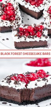 Photo of Black Forest Cheesecake Bars ~ Recipe | Queenslee Appetit …