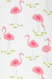 flamingo oasis papier peint enfants motifs du papier peint papier peint des annes - Papier Peint Fille