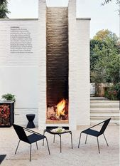 outdoor fireplace #outdoorspaces