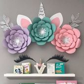 Unicorn Backdrop, Unicorn Paper Flower Set, Unicorn Wall Decoration, Unicorn Party Unicorn Birthday, Unicorn Party Decor, Unicorn Decoration – Alicia Zimmer