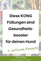 Gesunde Rezepte Fur Den Kong Mit Bildern Hundesport Begleithund Hundchen Training