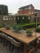 64 Kreative DIY Patio Gärten Ideen mit kleinem Budget #gardenideas #patiogardenideas # …