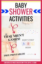 Baby Shower Songs How to make Baby's First ABC book