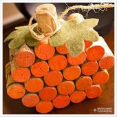 Wine Cork Pumpkin…these are the BEST Fall Craft Ideas & DIY Home Projects!