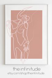 Abstract Woman Drawing