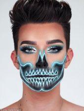 Es leuchtet: Das Neon-Schädel-Make-up, das YouTube übernimmt, ist ein ei …   – Black light photo shoot