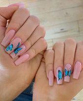 36 Sparkle Glitter Acryl Nail Designs Ideen für Short Square & Mandelnägel   – Summer Nails
