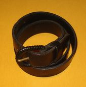 WOMEN'S COACH BLACK GENUINE FULL GRAIN LEATHER BELT SIZE L