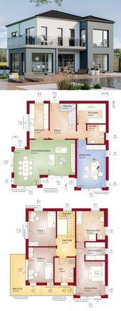 Fertighaus Stadtvilla Neubau modern Grundriss mit …