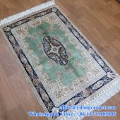 2.5' x 4' hand knotted area silk rugs made…