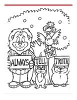 Always Tell The Truth Coloring Sheet Resources American Bible