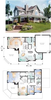 Traditional Style House Plan 76267 with 4 Bed, 3 Bath, 2 Car Garage