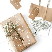4 ideas for making a nice kraft paper gift wrap