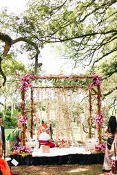 The Crimson Bride image. Bohemian South Indian Wed…