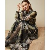 Maxi-jurk met lange mouwen en opaalprint Ted BakerTed Baker   – Products
