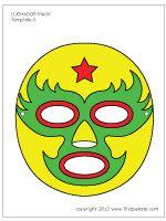 Printable Mask Template Alluring Ahora Eres Un Luchador Instructivo Con Fotos Paso A Paso Y .