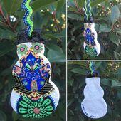 Salzteig Weihnachten Divali / Diwali Schneemann und Christmas Pudding Blackboard Shaped Ornament Ethnische Black Blue Greed – Unique Handmade